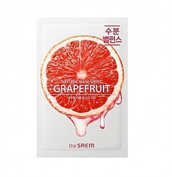 Маска тканевая с экстрактом грейпфрута  Natural Grapefruit Mask Sheet 21мл