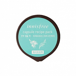 Капсульная маска для лица Innisfree Capsule Resipe Pack Jeju bija & Tea Tree