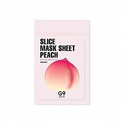 Маска-слайс для лица тканевая G9SKIN Slice Mask Sheet  - Peach 10мл