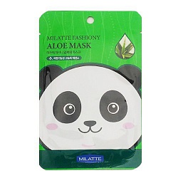Маска на тканевой основе для лица с экстрактом алоэ MILATTE FASHIONY ALOE MASK SHEET (Renewal) 21гр