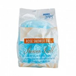 Мочалка для душа Flower ball rose shower ball 1шт