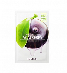 Маска на тканевой основе для лица с экстрактом ягод асаи Natural Acai Berry Mask Sheet 21мл