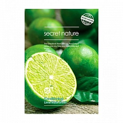 Бодрящая маска для лица с лаймом Secret Nature Lime Mask Sheet Conditioning, 25 мл