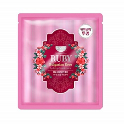 Маска для лица гидрогелевая с розой koelf RUBY Bulgarian Rose hydrogel mask pack, 30 гр