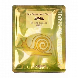 Маска на тканевой основе для лица с муцином улитки Pure Natural  Mask Sheet [Snail] 20мл
