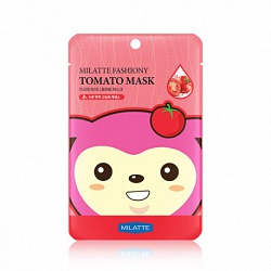 Маска на тканевой основе для лица томатная Milatte Fashiony Tomato Mask Sheet, 21 гр