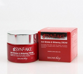Крем для лица с пептидом змеиного яда SYN-AKE Anti Wrinkle & Whitening Cream 50гр